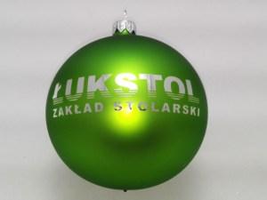 bombki świąteczne łukstol kolor zielony