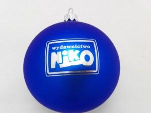 bombki świąteczne z logo niko z grawerem