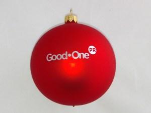 bombki reklamowe z logo good one czerwone