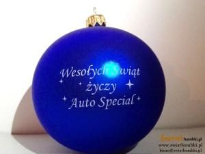 bombki z logo auto special Wesołych świąt