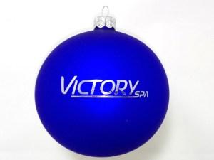 bombki z logo victoryspa niebieskie