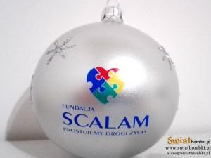 White printed balls SCALAM