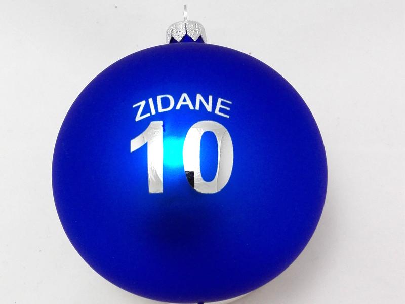 Chrismas ball with logo zidane, blue