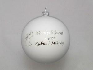 balls with dedication dla kubusia i mikołaja, white