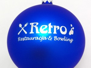 blue balls with logo retro
