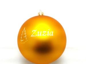 yellow balls with name zuzia