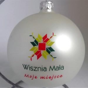 company balls with logo Wisznia Mała, pearly