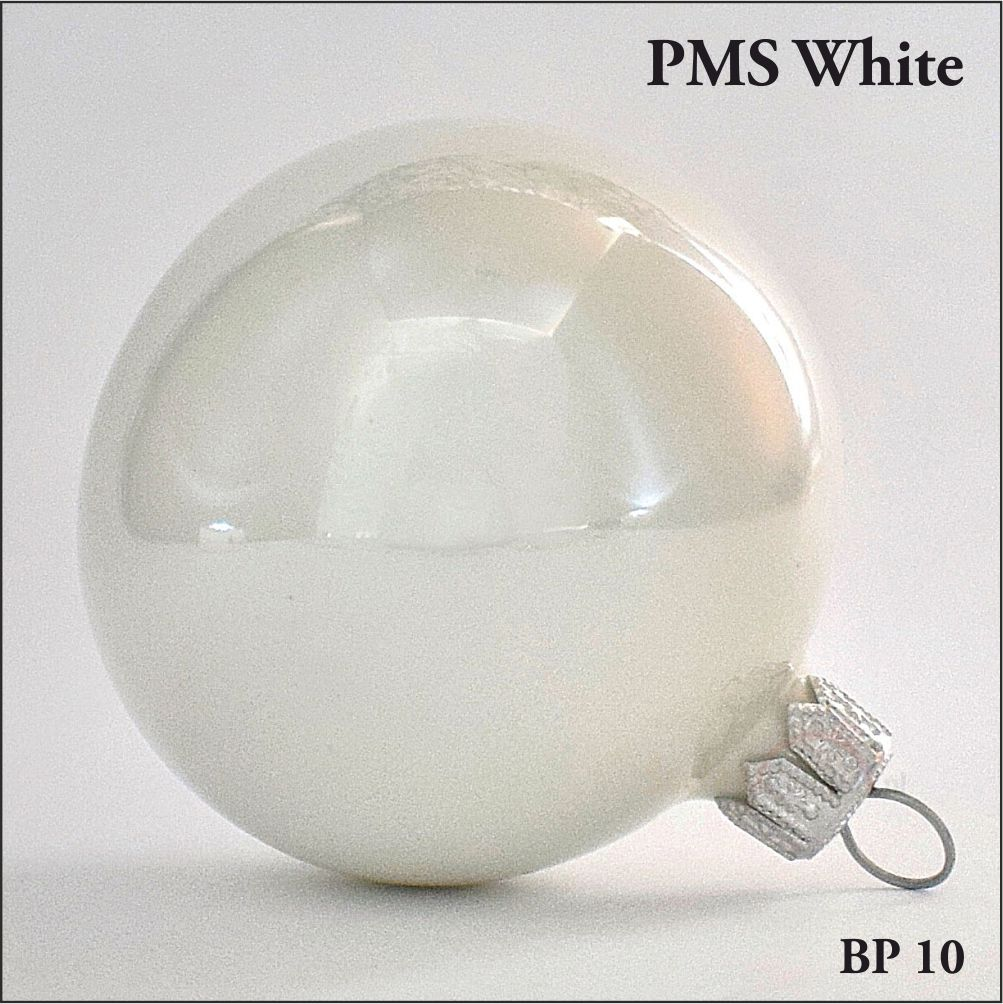 bombka choinkowa biała perła, połysk