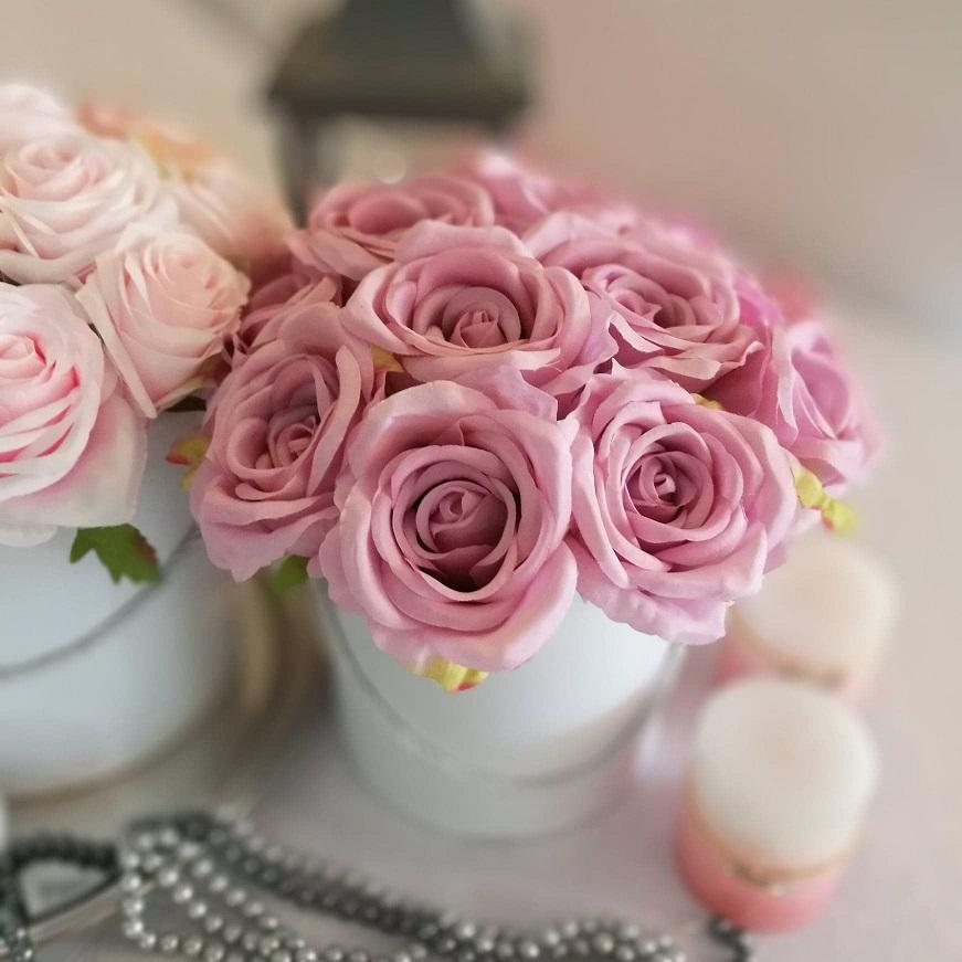Flower box różowy