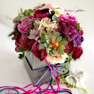 pudełko z kwiatami