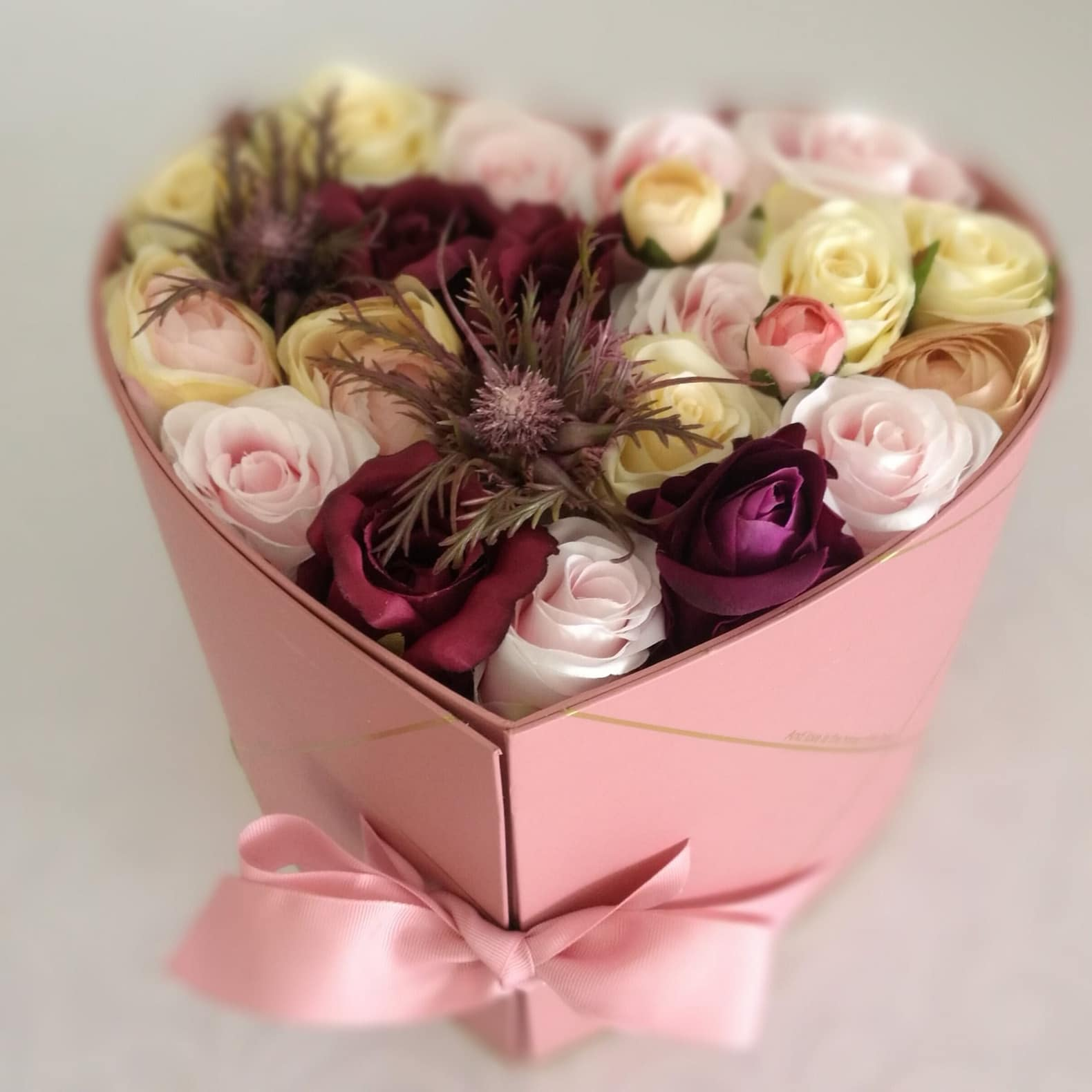 Flower box serce