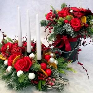 Stroik i pudełko Czerwień na święta komplet