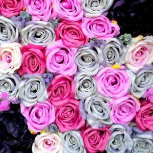 Ściana kwiatowa Różowy Świt