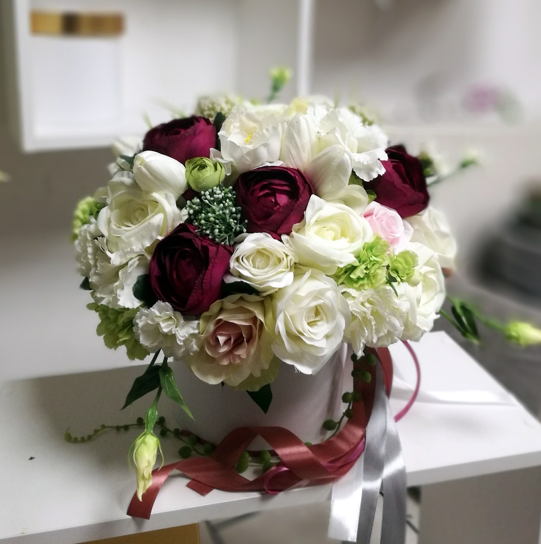 Flower box z kroplą amarantu nr. 145