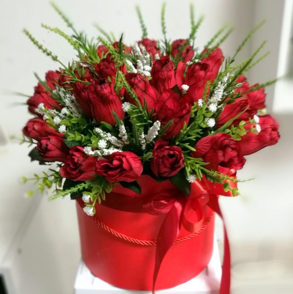 Flower box Tulipany w czerwieni nr. 153