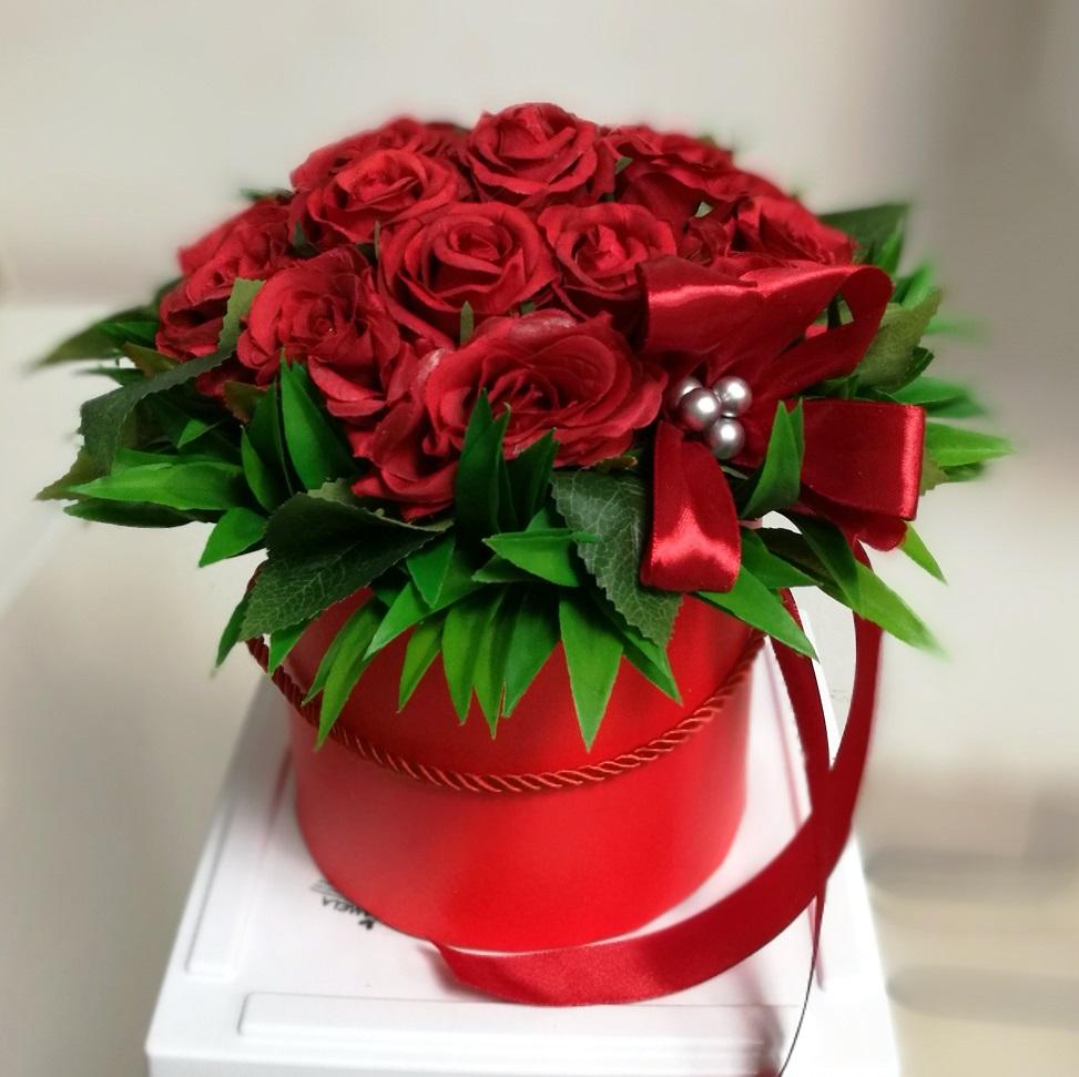 Flower box Czerwona etiuda S nr. 156