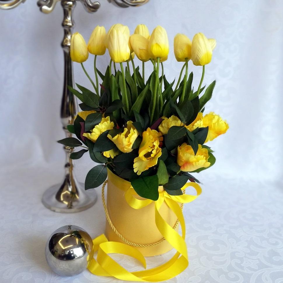 Żółte tulipany w pudełku nr 219, Żółte tulipany w żółtym pudełku nr. 176