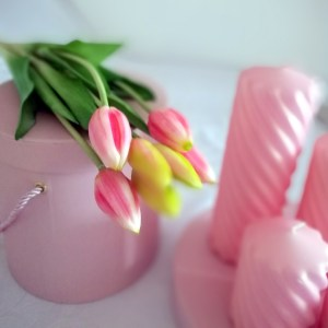 Tulipany silikonowe jasny róż 7 sztuk
