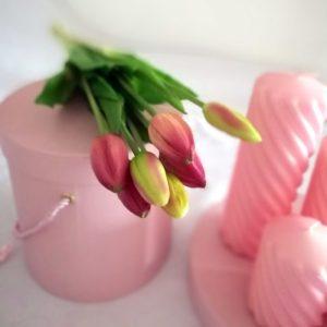 Tulipany silikonowe ciemny róż 7 sztuk