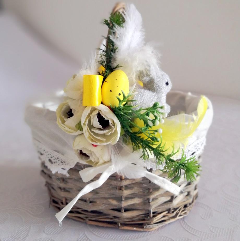 Wielkanocny koszyczek z zajączkiem 3