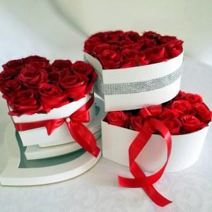 Flowerbox serce roz. M nr. 203