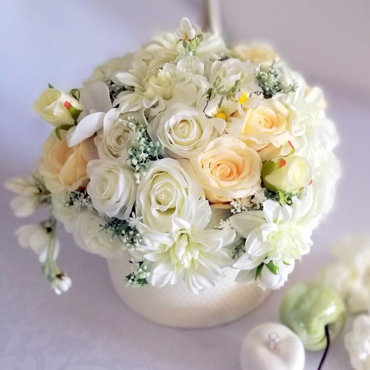 Flower box biało-kremowy nr. 205