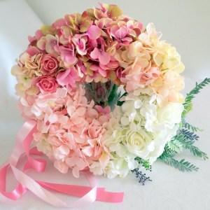 Wianek z hortensji odcienie różu nr 88