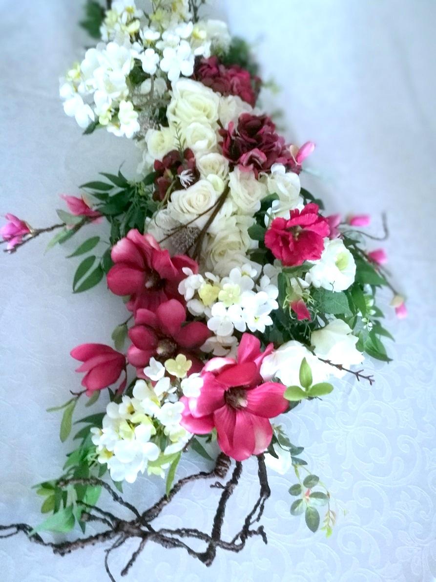 Kompozycja kwiatowa magnolia i róże nr. 215