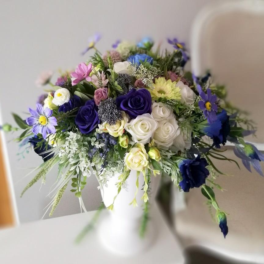 Kompozycja kwiatowa Odcienie niebieskiego nr. 216