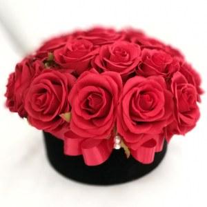 Welurowe pudełko kwiatowe rozmiar L
