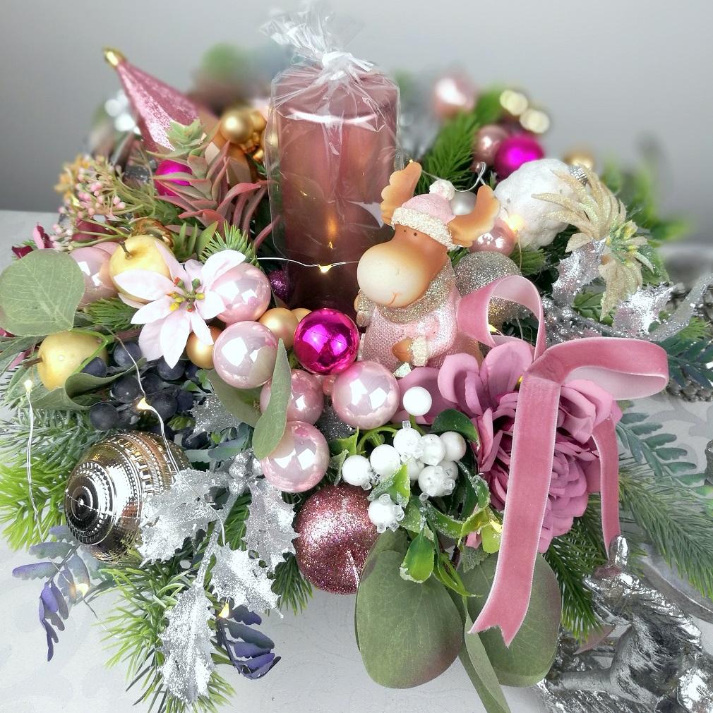 Stroik na Boże Narodzenie z reniferową nr 258