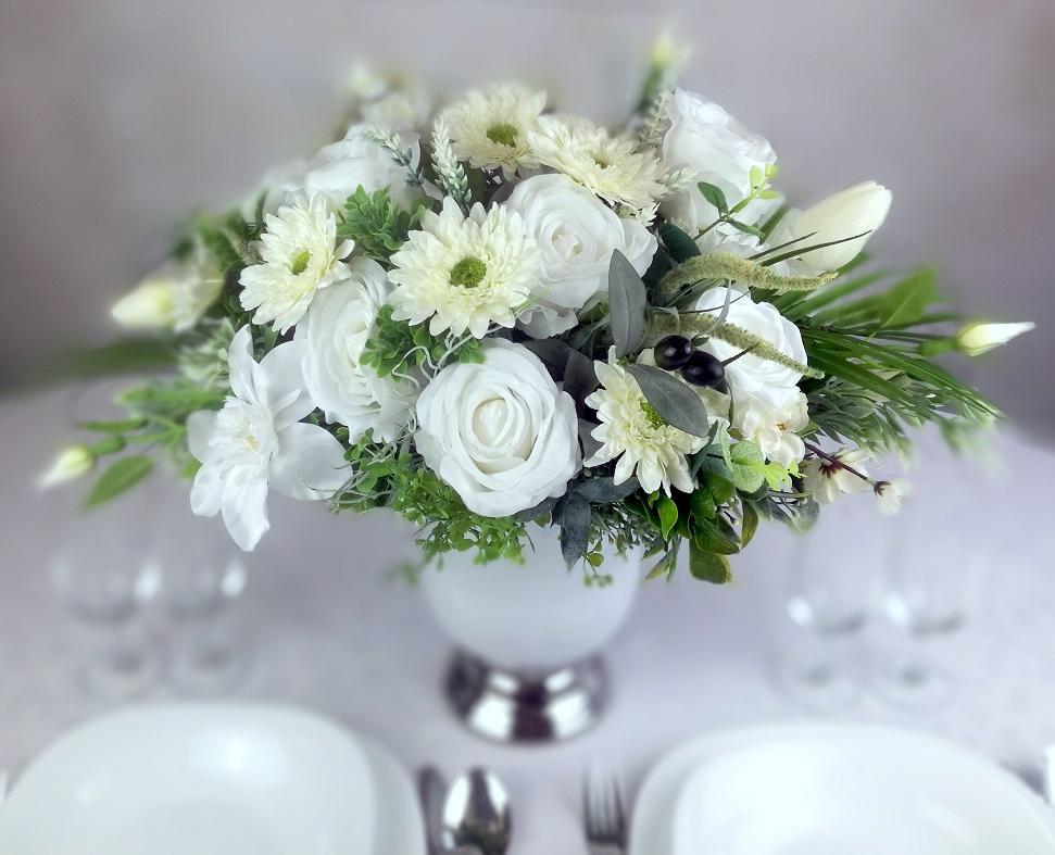 Dekoracja kwiatowa Biała Mgła nr 284