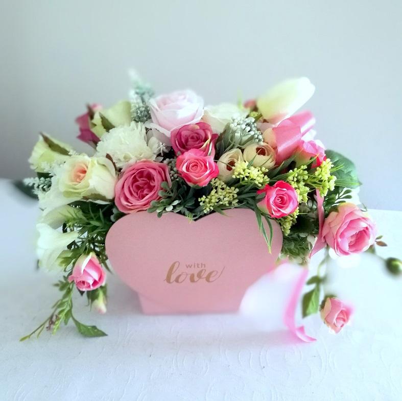 Flower box serce Wyjątkowe chwile nr 326