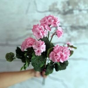 Sztuczna pelargonia różowa