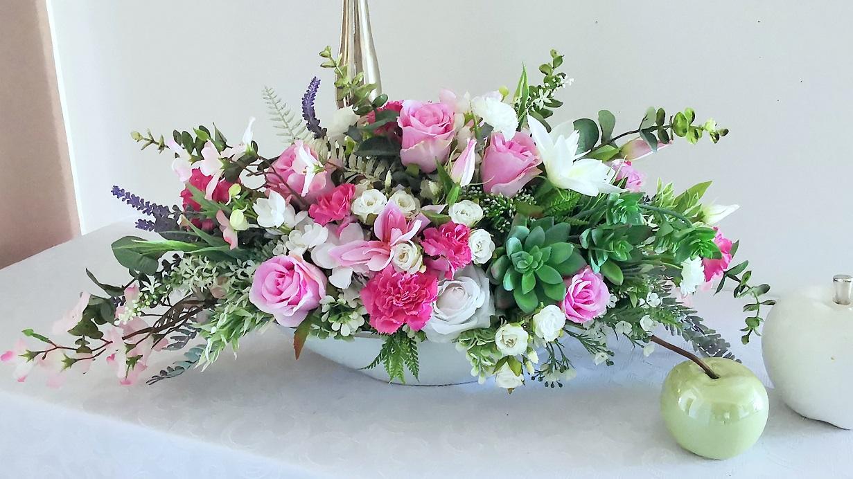 Kompozycja kwiatowa z bukietem Marzenie 4 nr 363
