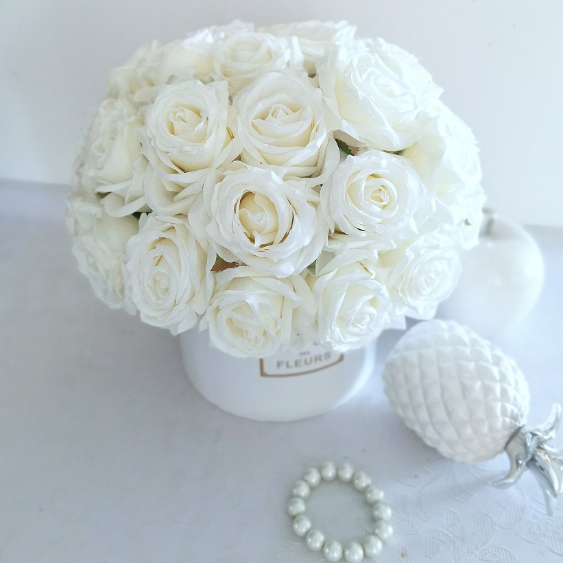 Biały Flower box Urok chwili nr 368