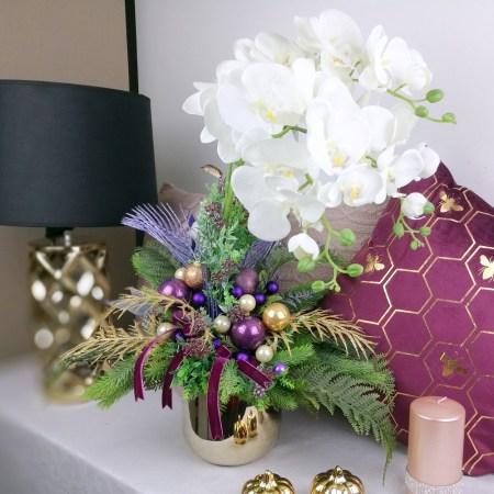 dekoracje świąteczne ze storczykami