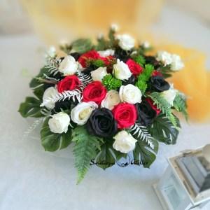 Dekoracja nagrobna czarne róże 2 nr 411
