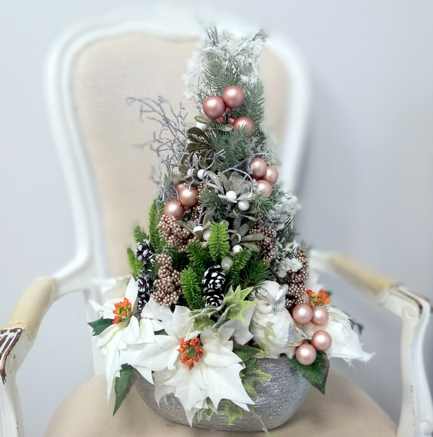 Stroik świąteczny Zimowy czas nr 371