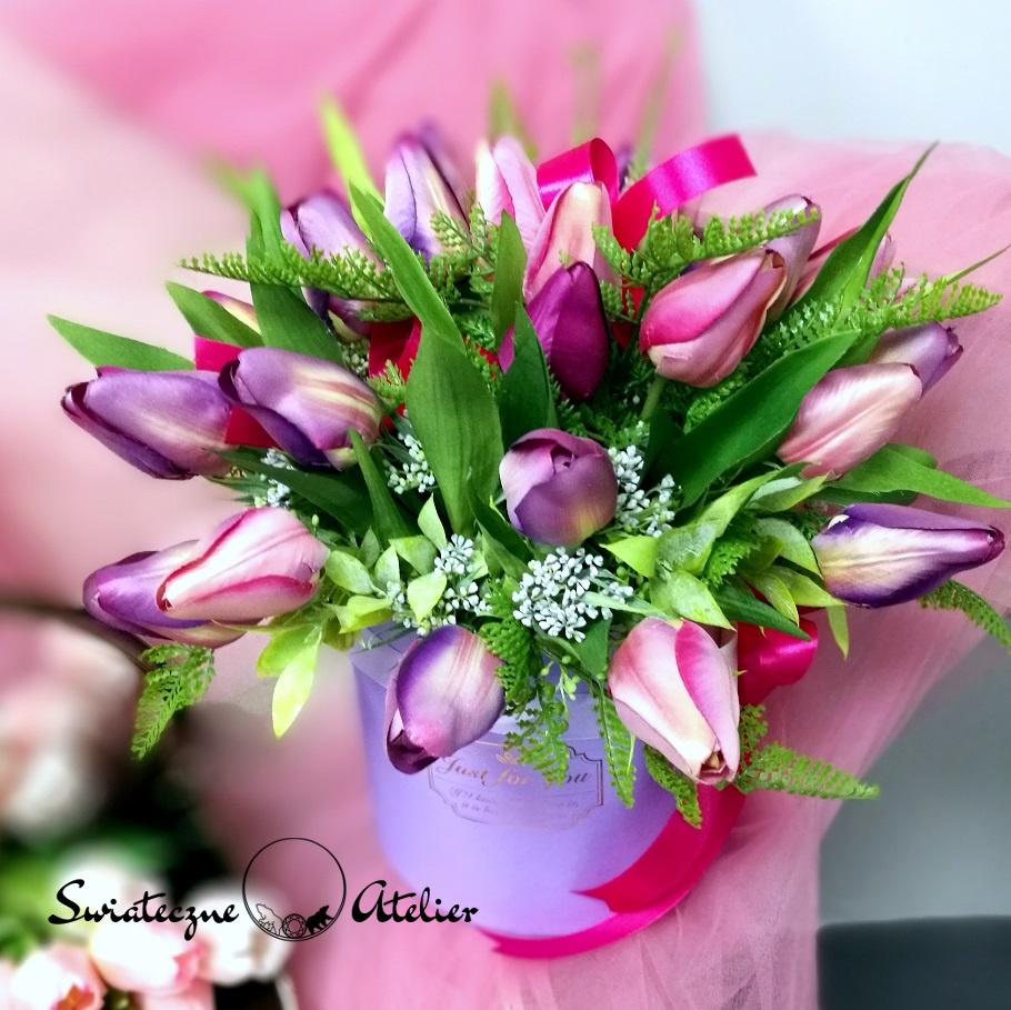 Box kwiatowy z tulipanami nr 409