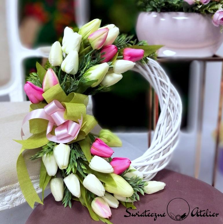 Wianek z tulipanami Wiosenne dni nr 154