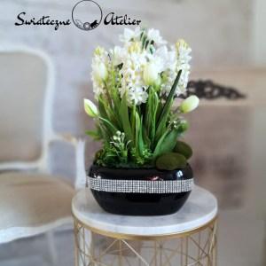 Białe hiacynty kompozycja kwiatowa nr 432