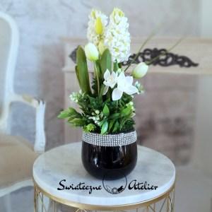 Białe hiacynty kompozycja kwiatowa nr 433