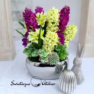 Wiosenna kompozycja kwiatowa wiosenne kwiaty nr 446