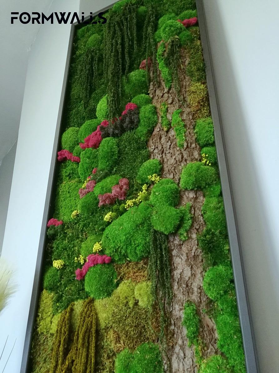 Obraz z mchów stabilizowanych typu Fantazja 210 x 55 cm