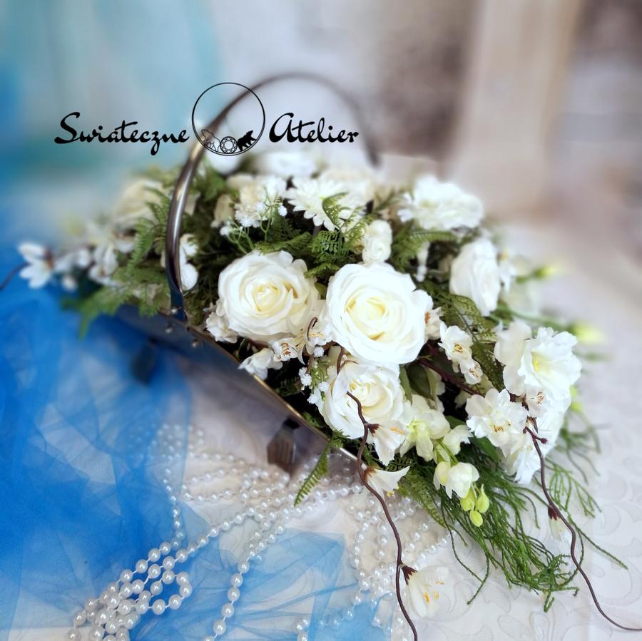 Kompozycja kwiatowa Odcienie bieli nr 474