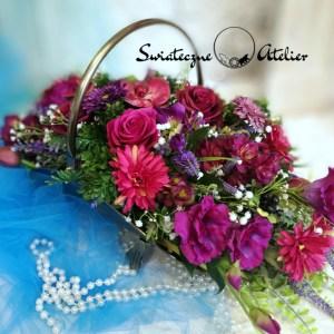 Kompozycja kwiatowa Odcienie fioletu nr 473
