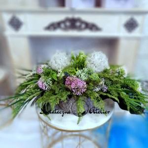 Dekoracja kwiatowa Zielona etiuda nr 480