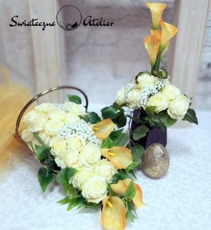 Zestawy nagrobne ze sztucznych kwiatów