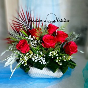 Strok kwiatowy w czerwieni nr 489